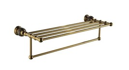 Gold PVD colour bathroom brass marble towel racks modern  - $138.59
