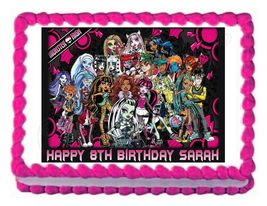 Monster High Edible Cake Image Cake Topper - $8.98+