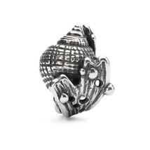 Authentic Trollbeads Silver Hiding Conch TAGBE-10196 Designer Soren Nielsen new! - $33.25