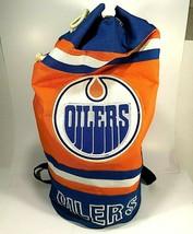 Edmonton Oilers Duffle Gym Bag Backpack Versatile Canvas NHL McDavid Gre... - $75.59