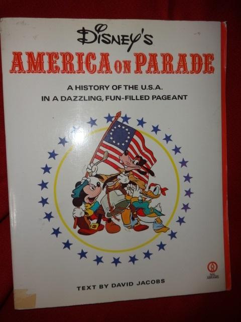 Walt Disney AMERICA ON PARADE softcover book + felt pennant