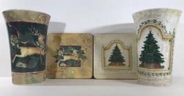 Pimpernel Christmas Eve Holiday Mug & Coaster Set of 2- Reindeer Christmas Tree - £32.38 GBP