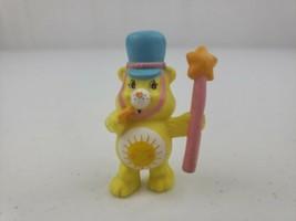 Vintage Care Bears Funshine Bear Field Commander Band Leader PVC Figure ... - $8.30