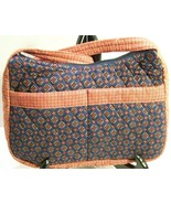 Quilted Shoulder Bag Purse Red White Blue Calico Print New Pockets Zip S... - $19.75