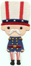 Toy soldier palace guard nutcracker embroidered applique iron-on patch S... - £2.24 GBP