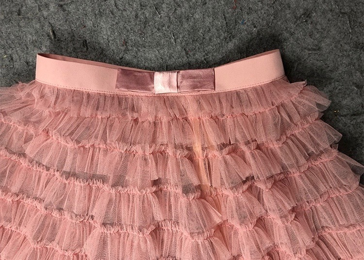 Blush Tiered Long Tulle Skirt Blush Bridesmaid Outfits Women's Tulle Puffy Skirt