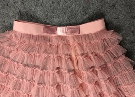 Blush Tiered Midi Tulle Skirt Blush Bridesmaid Skirt Outfits Tulle Puffy Skirts image 3