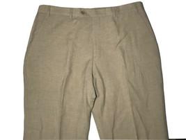 Georgeo Armani Collezioni Men's 36X28 Flat Front Beige Linen Wool Blend Pant - $38.40