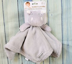 New Plush Grey Hippo Security Blanket Blankets & Beyond Lovey Nunu NWT - $17.59