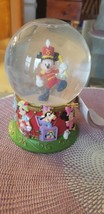 75 Years Walt Disney Glass Snow Globe Mickey Mouse Circus Collectable - $10.88