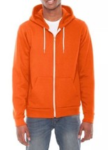 ORIGINAL American Apparel Flex Fleece Zip Hoodie Tang Bright Orange F497 M NEW - $24.99