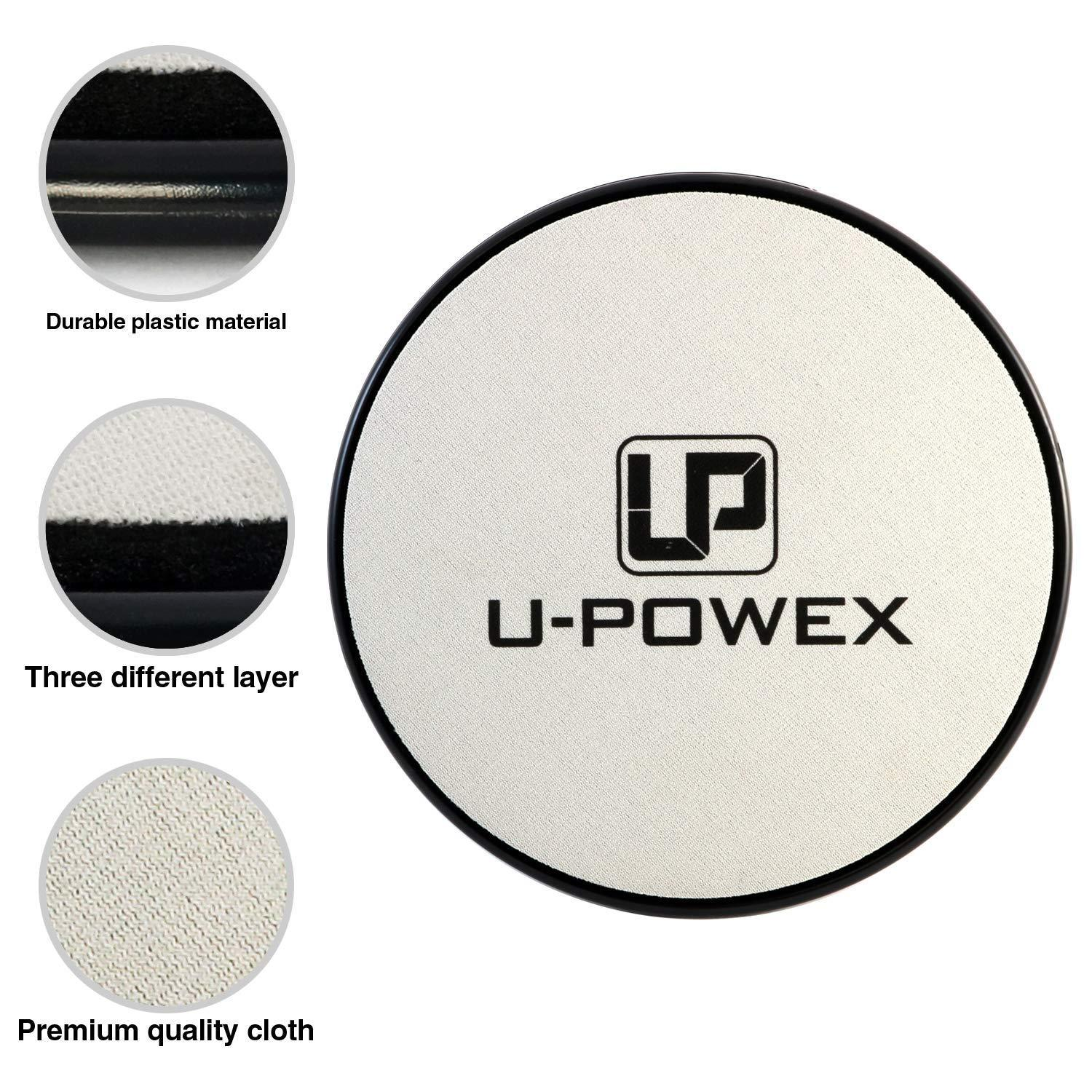 UPOWEX Exercise Sliders  Dual Sided Core Sliders – Work Smoothly on Any Surface. image 5