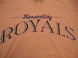 MLB Kansas City Royals Baseball Graphic Print Pink T Shirt M - $14.84