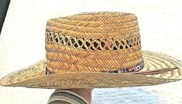 DORFMAN PACIFIC Straw Sun Hat MEXICAN FEDORA MENS - $12.82