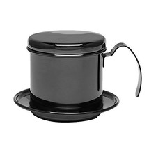 Coffee Maker Pot, Stainless Steel Cup Vietnamese Coffee Drip Filter (Black) - €26,34 EUR