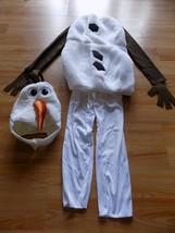 Child Size Large 4-6 Disney Frozen Olaf Snowman Deluxe Halloween Costume... - $28.00