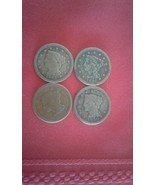 ONE LARGE CENT Braided Hair 1845,1846,1849,1850 Lot of 4  - $80.00