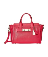Coach Pink Ruby Large Swagger 27 Leather 34408 Satchel Handbag NWT $595 - $390.56