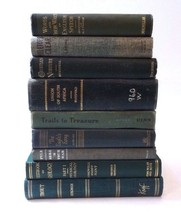 Green Decorative Books By The Foot Vintage Cloth Bound Books RANDOM Mixe... - $42.75