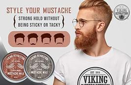 Mustache Wax 2 Pack - Beard & Moustache Wax for Men - Strong Hold Helps Train Ta image 4