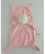 Carters Pink LAMB Sheep LOVEY Plush Security Blanket Pacifier Holder Rattle - $24.74