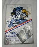 UNC Tar Heels Fabric Tablecloth 52 x 70 Sealed NOS - $35.95
