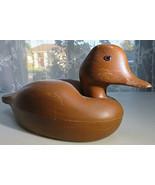 Plastic Duck Storage Box Brown Office Trinkets Jewelry Desk Organizer  - $20.00