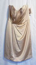 NWT David's Bridal Short Strapless Satin Dress w/ Pleating Size 8 Nice - $19.95