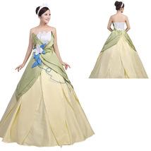 Disney Women Frog Princess Cosplay Costume Costume Halloween Dress - $171.44