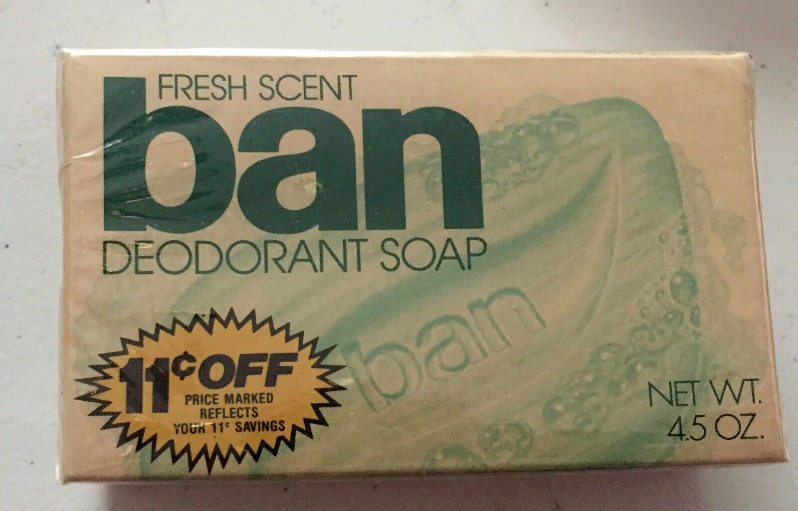 Primary image for Vintage BAN fresh scent  Deodorant Soap 4.5 Oz Bar Movie Prop