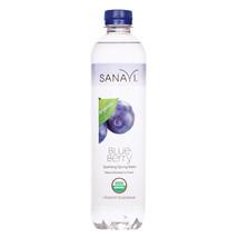 Sanavi Sparkling Spring Water - Blueberry - Case of 12 - 17 Fl oz. - $37.38