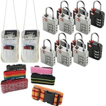Travel Accessories Kit With Security Straps, Locks And Pouches - $50.20