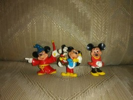 """3 Applause Disney Mickey Minnie Mouse PVC Cake Topper Toys 2"""" Fantasia P... - $15.83"""