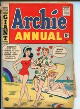 Archie Annual #15 1963-MLJ/ARCHIE-SWIMSUIT COVER-BETTY-VERONICA-fr - $18.62