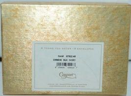 Caspari 87622 48 Chinese Silk Ivory Thank You Notes and Envelopes Pkg 6 image 3