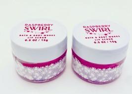 2 Bath & Body Works RASPBERRY SWIRL Lip Scrub 0.5 oz/15 g Each NEW - £12.95 GBP