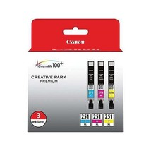 Canon 6449B009 3-Color Combination High Yield Ink Cartridges for PIXMA P... - $63.31