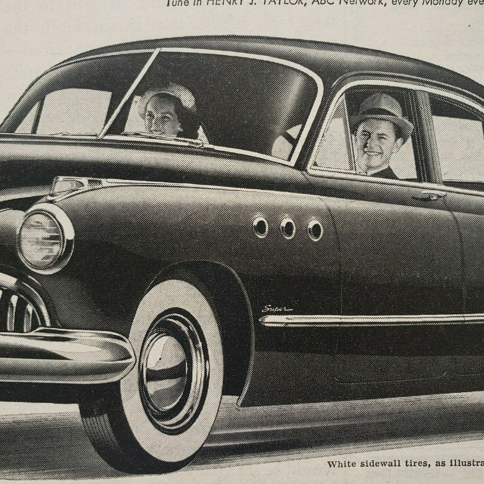 Primary image for 1949 Buick Print Ad When Better Automobiles Are Built Buick Will Build Them