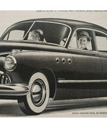 1949 Buick Print Ad When Better Automobiles Are Built Buick Will Build Them - $13.49