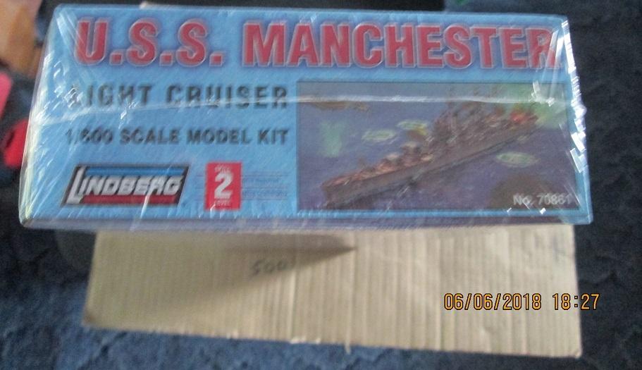 Lindberg U.S.S. Manchester Light Cruiser 1/600 scale