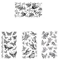 Set of 4 Cool Gothic Letters DIY Name Body Tattoo Stickers Fake Tattoos Designs