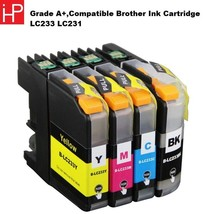 GRADE A+,COMPATIBLE BROTHER INK CARTRIDGE LC233 LC231 , BK/C/M/Y , 4PCS/... - $33.73