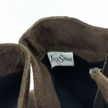 Jack Sprat Brown Suede Genuine Leather Floral Embroidered Sz 10 M Ankle Boots image 5