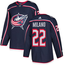 NHL Sonny Milano Youth Columbus Blue Jackets Authentic Home Jersey - Nav... - $1.285,23 MXN