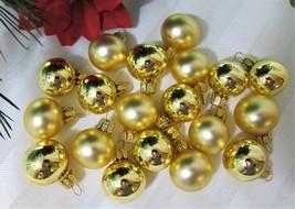 19x Gold Mini Glass Christmas Ornaments Free-Blown Hand Made VITBIS Poland - $16.62