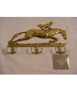 Horse & Rider - Jockey Key Rack, Polished Brass by Harrogate House - $15.99