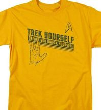 "Star Trek t-shirt ""Trek Yourself"" retro sci-fi TV series graphic tee CBS1109 image 3"