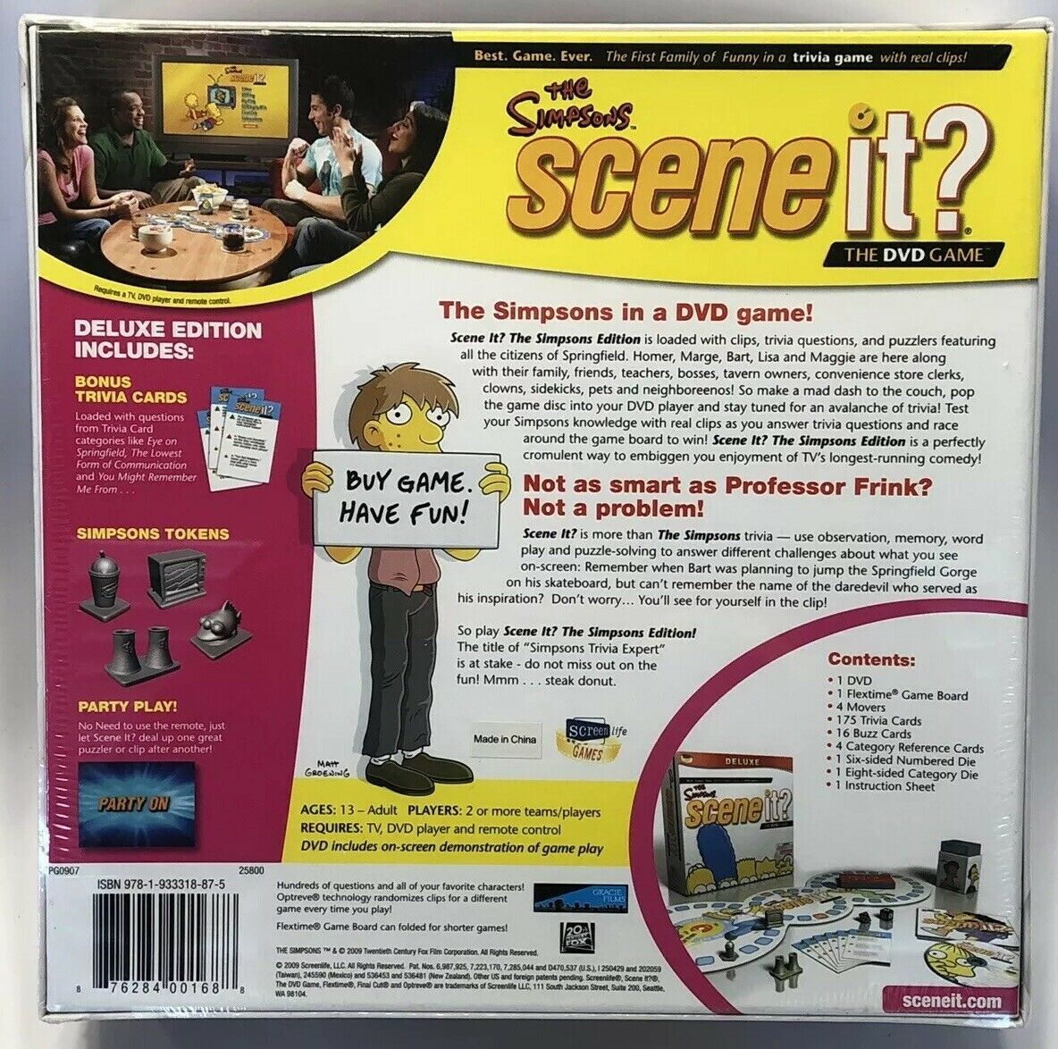 The Simpsons Scene It Deluxe DVD Trivia On Screen Instructions 2009 New Sealed! image 2