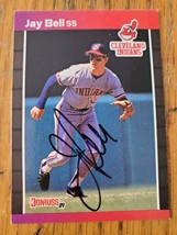 Jay Bell ~ Cleveland Indians ~ 89 Donruss ~Signed Autographed Baseball Card - $2.93