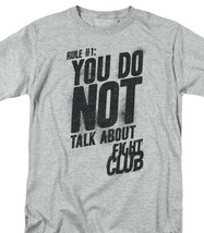 Fight club t shirt first rule retro 90s movie graphic printed sports gray tee thumb200